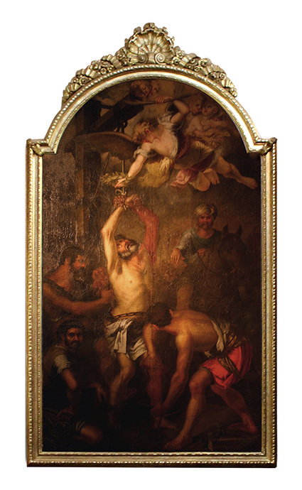 San Bartolomé, apóstol de Jesucristo, fue martirizado en Armenia.