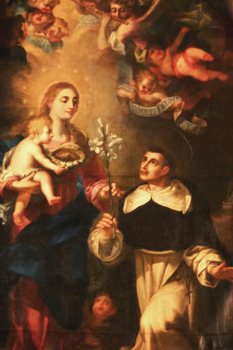 Aparición de la Virgen María a san Vicente Ferrer.