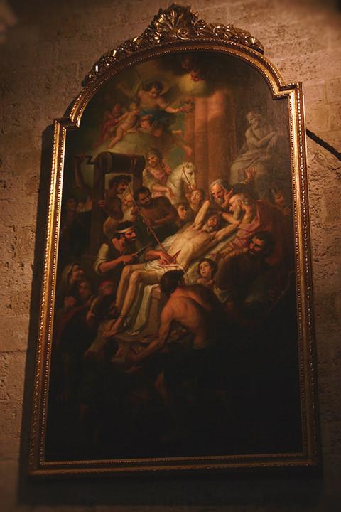 Martirio de San Erasmo, Catedral de Valencia.