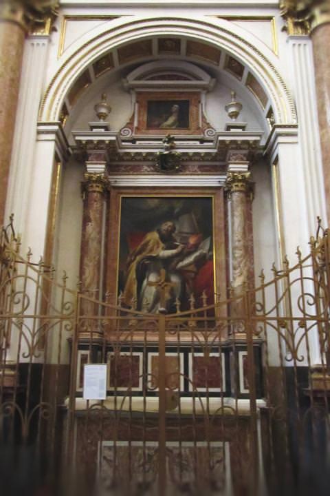 Capilla de San Agustín en la Catedral de Valencia.