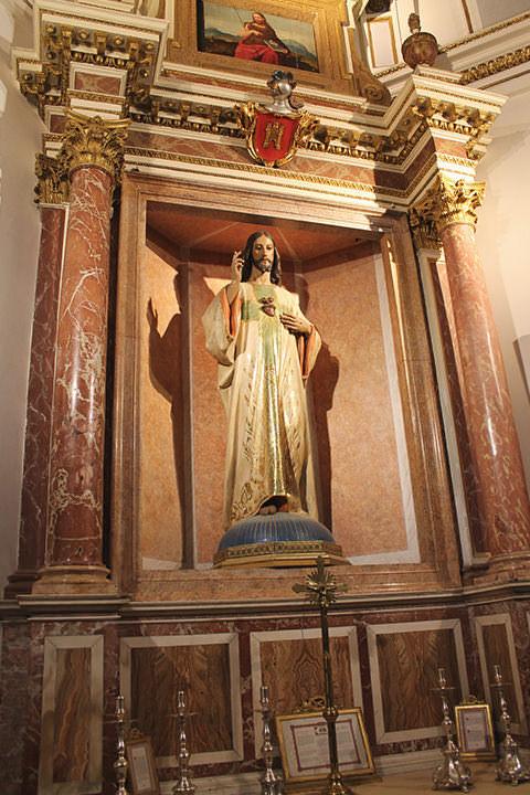 Capilla del Sagrado Corazón de Jesús en la Catedral de Valencia.