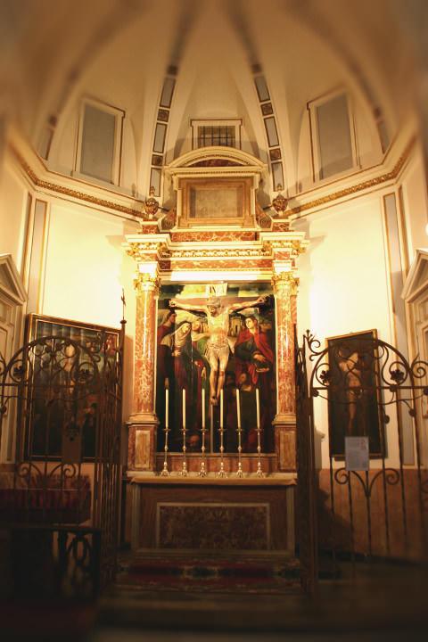 Capilla del Cristo de la Buena Muerte en la Catedral de Valencia.