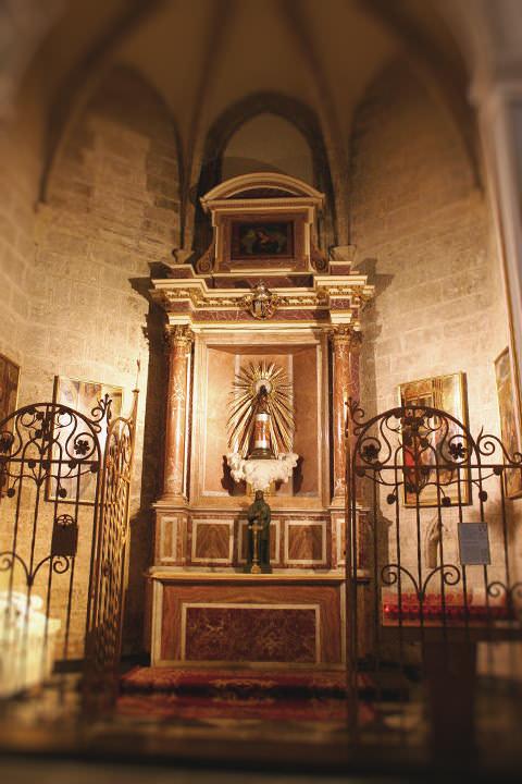 Capilla de la Virgen del Pilar en la Catedral de Valencia.