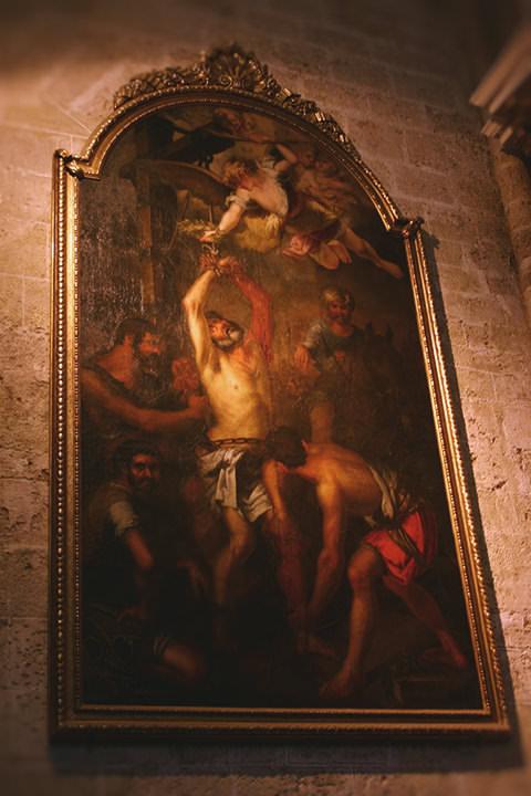 Martirio de San Bartolomé, Catedral de Valencia.