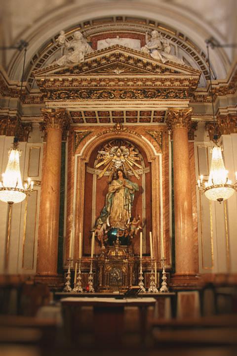 Capilla de la Inmaculada Concepción en la Catedral de Valencia.