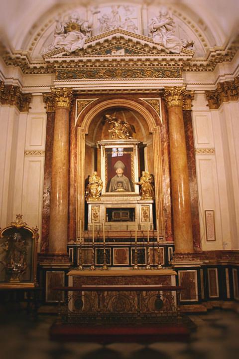 Capilla de San Luis Obispo en la Catedral de Valencia.