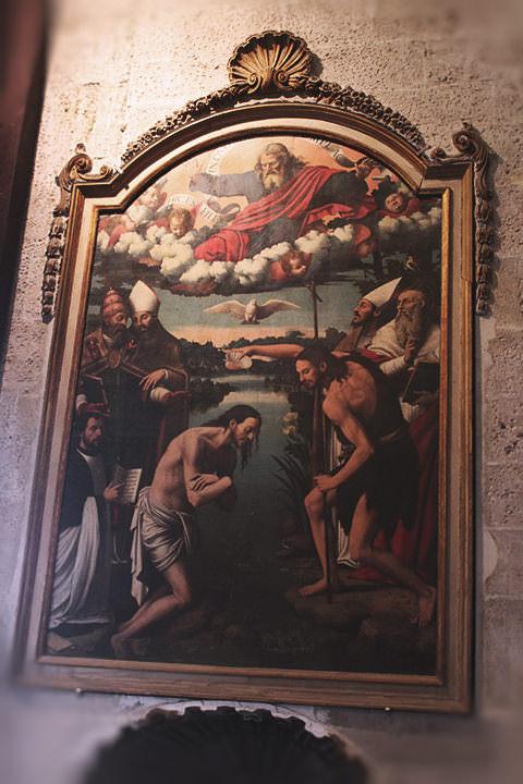 Bautismo de Cristo en el Jordán, Catedral de Valencia.