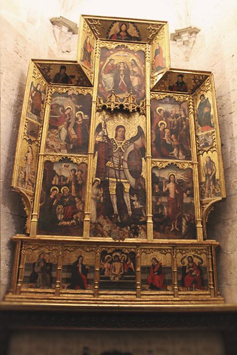 Retablo de San Miguel en la Capilla de San Miguel Arcángel, Catedral de Valencia.