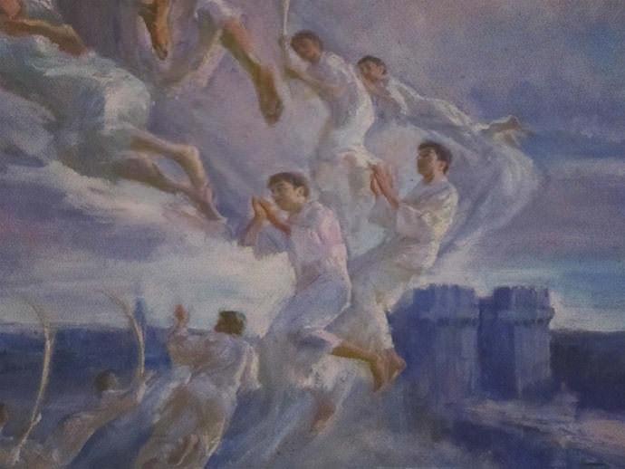 Glorificación de los mártires valencianos (detalle).