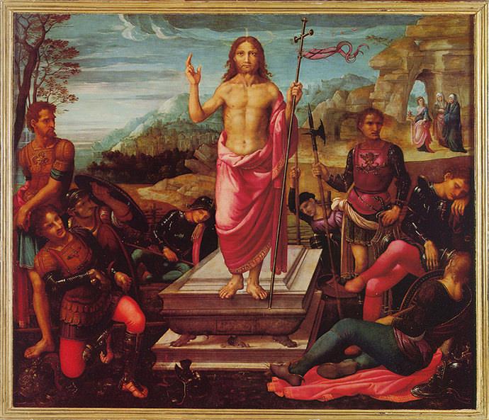 Pinturas que imitan el estilo de Leonardo de Vinci y de otros autores del renacimiento italiano.