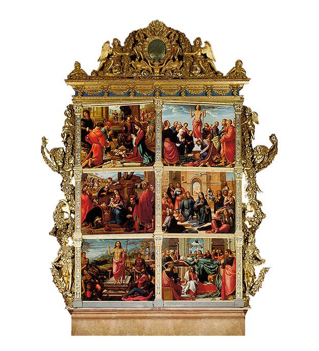 Pinturas del exterior del retablo mayor de la Catedral de Valencia.