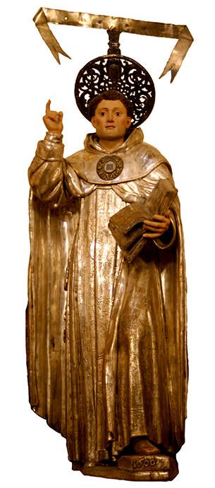 Imagen procesional de san Vicente Ferrer.