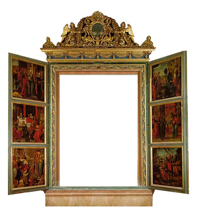 Pinturas del interior del retablo mayor de la Catedral de Valencia.