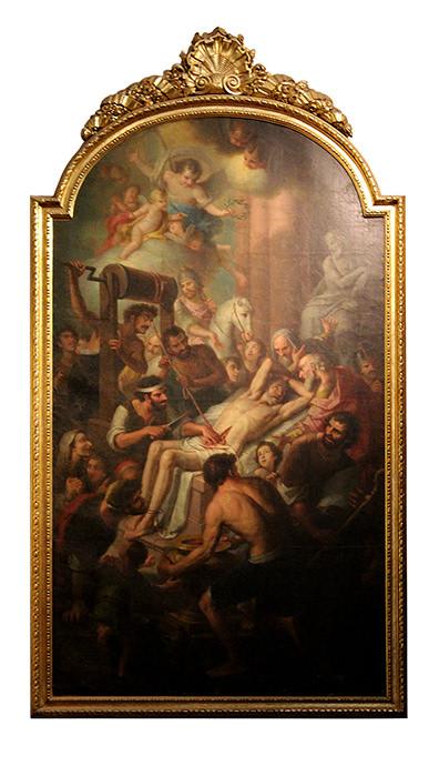 Martirio de San Erasmo.