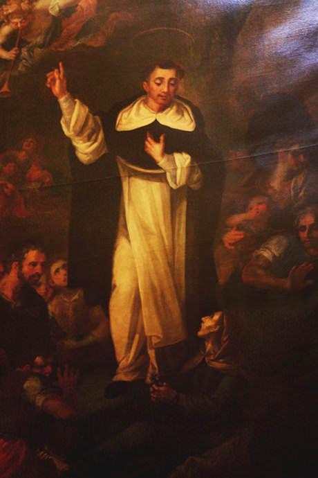 Resurrección de una difunta por san Vicente.