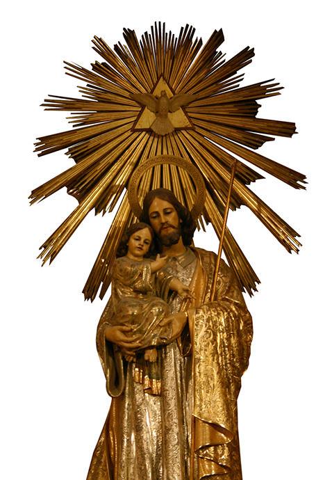 San José, imagen de madera policromada.