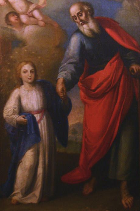 San Joaquín con la Virgen niña.