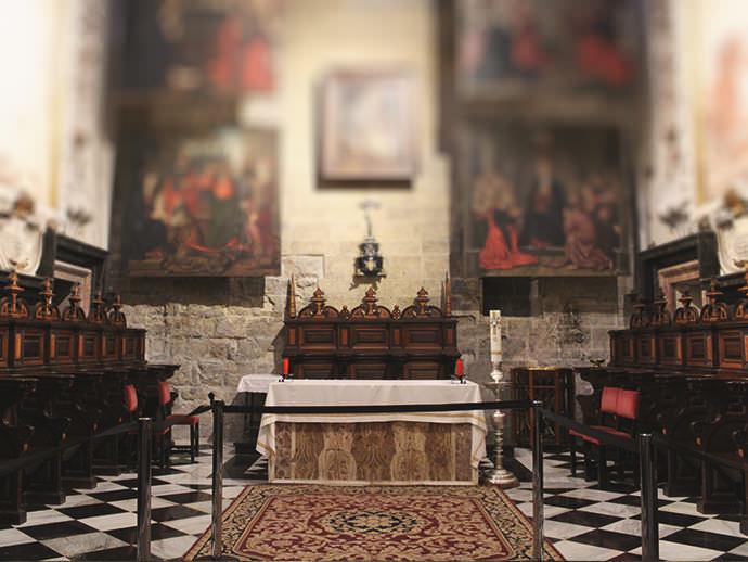 Sillería procedente del antiguo coro de la Catedral.