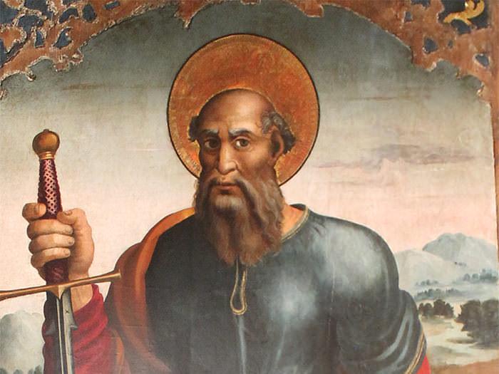 Restauración del cuadro de San Pablo