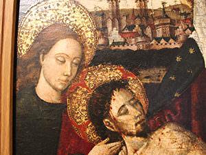 Lamentación sobre el cuerpo de Cristo muerto Nicolás Falcó Detalle - MCV